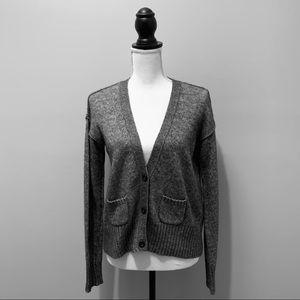 J. Crew Grey Cardigan Sweater